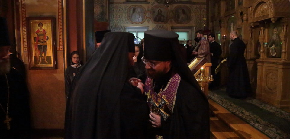 ФОТОАЛЬБОМ: Чин прощения на Московском подворье Валаамского монастыря